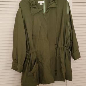 COLDWATER CREEK olive spring jacket windbreaker
